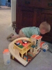 Playing with Dad\'s old toys